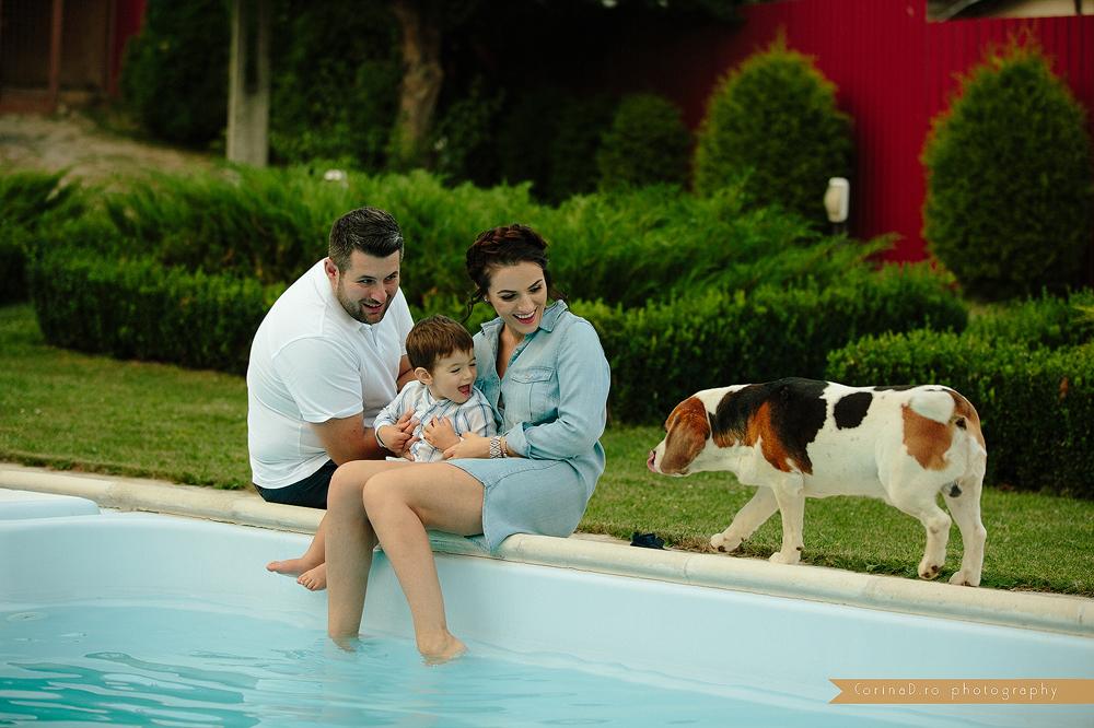 Sedinta foto familie – Elian, Gina si Cosmin