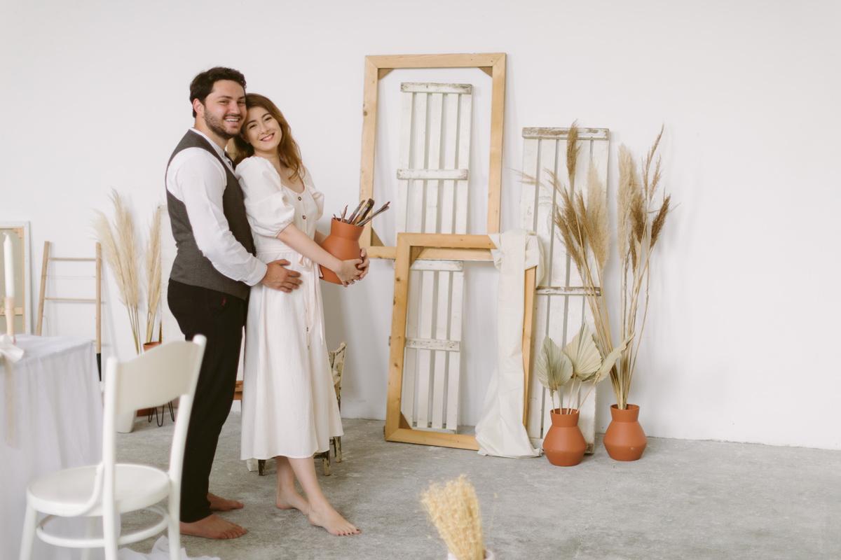 Iarina si Andrei – in atelierul artistului